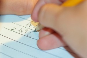 kids writing (Medium)